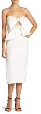 MILLY Mackenzie Bow-Accented Dress