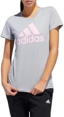 efcc0f94c01b49 adidas Bos Graphic Tees Womens Crew Neck Short Sleeve Graphic T-Shirt