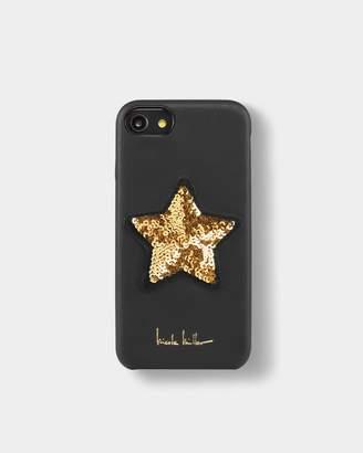 35896b5b04 Nicole Miller Gold Star Sequin Iphone Case