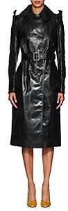 AKIRA NAKA Women's Articulated Leather Trench Coat - Black