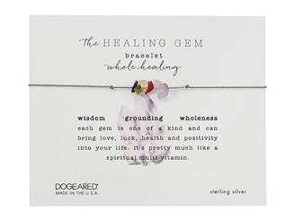 Dogeared The Healing Gem Bracelet, Whole Healing Gems On Silk w/ Accent Beads