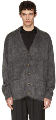 Brioni Grey Mohair Cardigan
