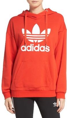 Women's Adidas Originals Trefoil Hoodie $70 thestylecure.com