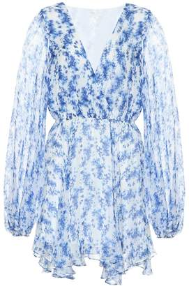 Caroline Constas Olena floral-print silk minidress