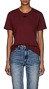 Off-White Women's Arrow-Logo Cotton T-Shirt - Wine