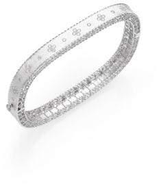 Roberto Coin Princess Diamond& 18K White Gold Bangle Bracelet