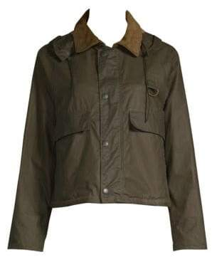 Barbour Women's Margaret Howell Cotton Cropped Jacket - Olive - Size 6
