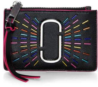 Marc Jacobs Top Zip Leather Wallet