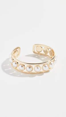 Rebecca Minkoff Floating Imitation Pearl Cuff Bracelet