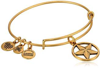 "Alex and Ani Armed Forces"" Star of Strength Expandable Gold Wire Bangle Charm Bracelet"