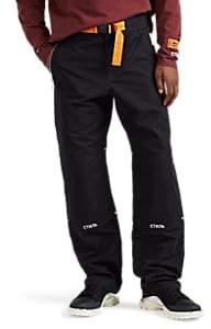 Heron Preston Men's Cotton-Blend Canvas Hiking Pants - Black