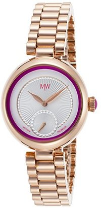 Matthew Williamson lbm36003 – 06 Women 's rose-toneベースメタルシルバートーンDialパープルAccent Watch