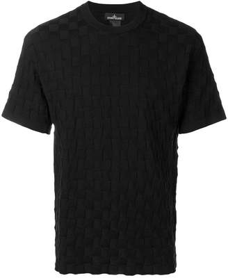 Stone Island Shadow Project woven check T-shirt
