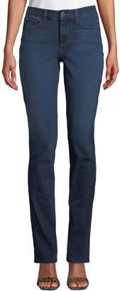 NYDJ Samantha Mid-Rise Slim-Leg Pants
