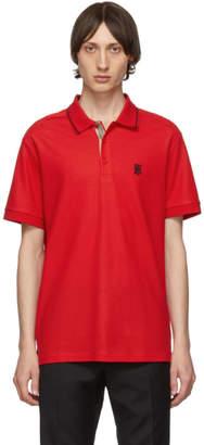 Burberry Red Icon Stripe Walton Polo