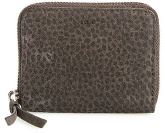 Women's Allsaints Echo Mini Zip Wallet - Grey $98 thestylecure.com