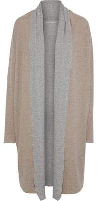 Majestic Filatures Two-Tone Draped Cotton And Cashmere-Blend Cardigan