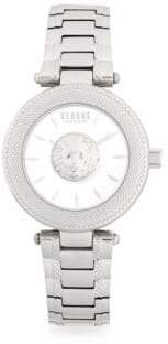 Versace Lion Head Stainless Steel Analog Bracelet Watch