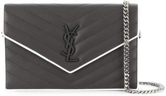 Saint Laurent monogram logo clutch bag