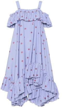 Alexander McQueen Embroidered cotton dress