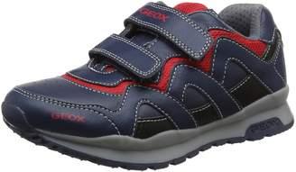 Geox Boy's J Pavel A Sneakers, Black/Royal