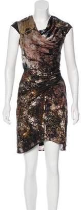 Helmut Lang Silk-Blend Printed Dress