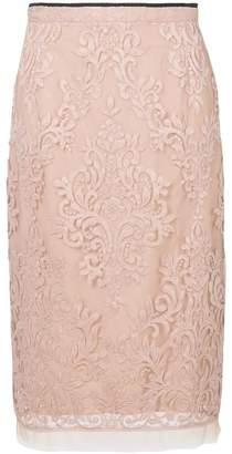 No.21 sheer lace pencil skirt