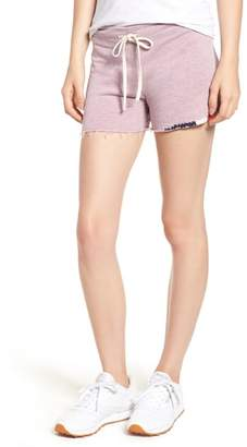 Sundry Embroidered Cutoff Terry Shorts