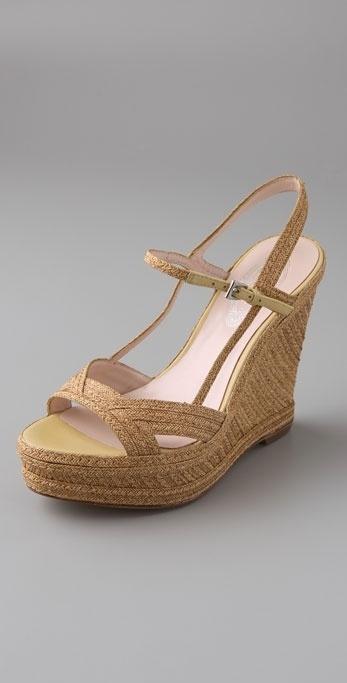 Elie Tahari Serena Wedge Sandals