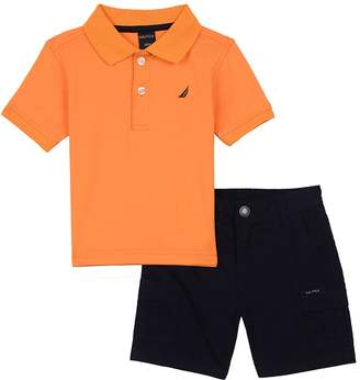 Nautica Baby Boys' Two Piece Set with Synthetic Polo Shirt and Short