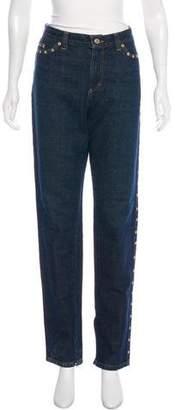 Dolce & Gabbana Mid-Rise Studded Straight-Leg