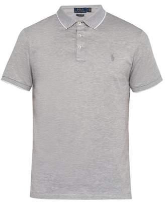 Polo Ralph Lauren Custom Slim Fit Logo Embroidered Cotton Polo Shirt - Mens - Grey