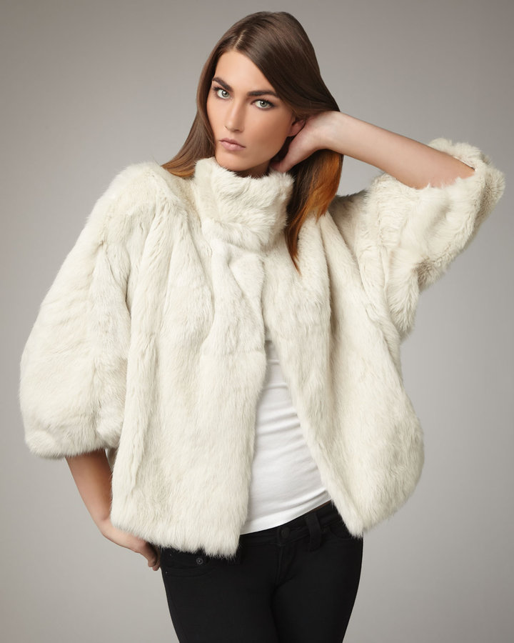 Elizabeth and James Toki Fur Coat