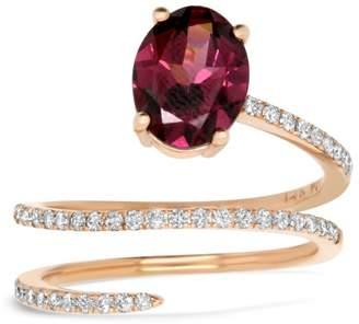 Alberto Rhodalite Garnet Wrap Ring