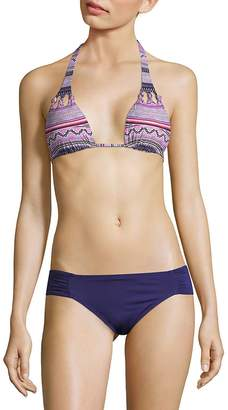 Red Carter Swim Women's Graphic Bikini Top