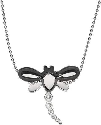 Steel City Stainless Steel Crystal Dragonfly Pendant