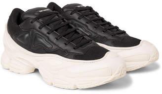 Raf Simons adidas Originals Ozweego Mesh and Leather Sneakers - Men - Black