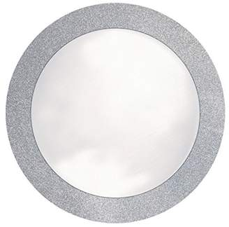 "Creative Converting Glitz Silver Round Paper Placemats with 2"" Glitter Border"