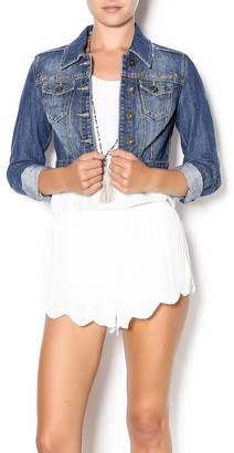 Dollhouse Cropped Studded Denim Jacket $59 thestylecure.com