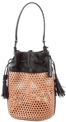 Loeffler Randall Perforated Leather Bucket Bag