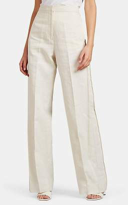 Jil Sander Women's Glenn Canvas Wide-Leg Trousers - Ivorybone