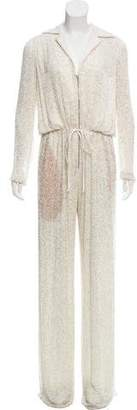 Naeem Khan Embellished Wide-Leg Jumpsuit