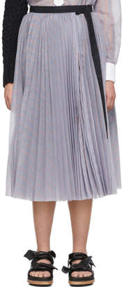 Sacai Blue Stripe Wrap Skirt