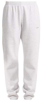 Balenciaga Copyright Logo Track Pants - Womens - Light Grey