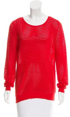 Sandro Open Knit Rib Knit Sweater $70 thestylecure.com