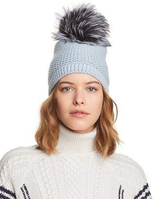 Kyi Kyi Slouchy Hat with Fox Fur Pom-Pom - 100% Exclusive