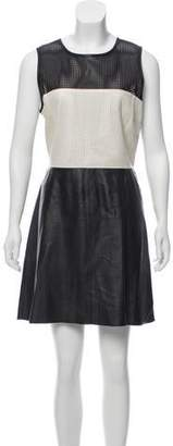 L'Agence Leather Mini Dress