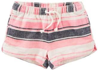 Osh Kosh Oshkosh Bgosh Girls 4-8 Striped Linen-Blend Shorts