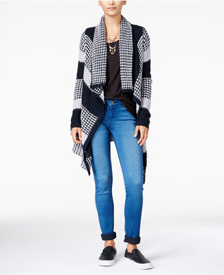 Planet Gold Juniors' Striped Waterfall Cardigan $49 thestylecure.com