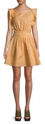 Free People Ruffle Fit-&-Flare Mini-Dress